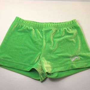 Green Micro Mini Gymnastics Shorts